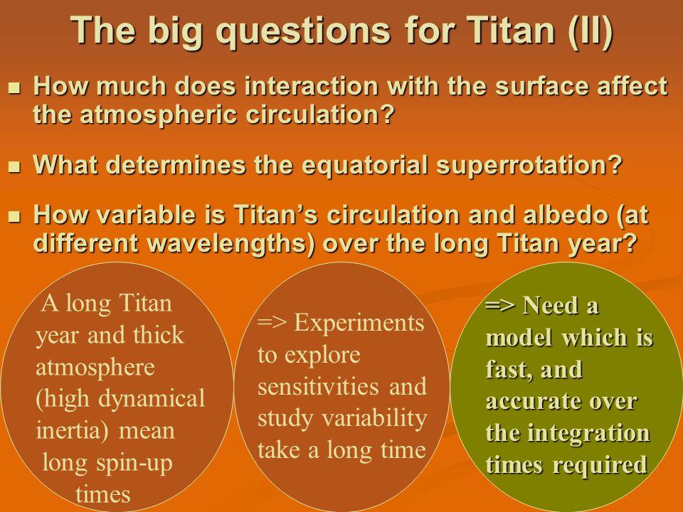 The big questions for Titan (II)