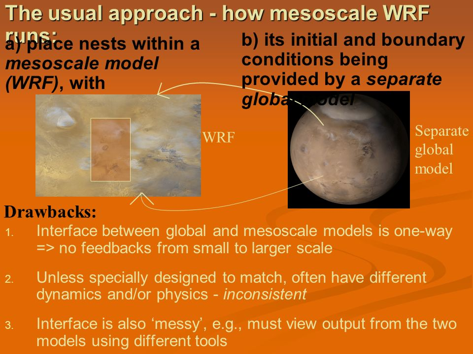The usual approach - how mesoscale WRF runs: