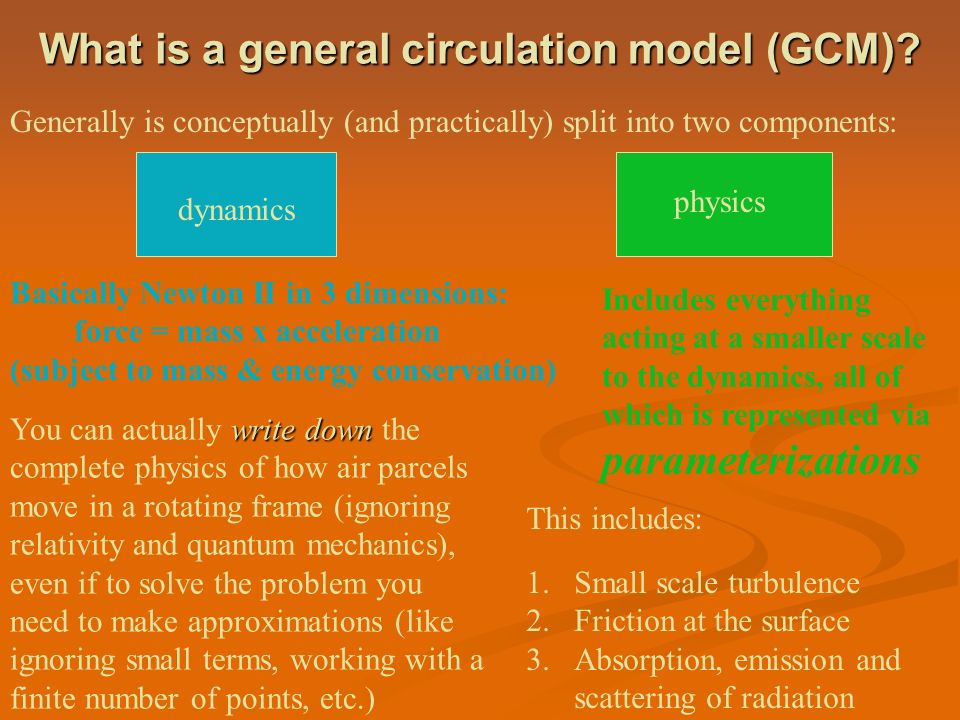 What is a general circulation model (GCM)