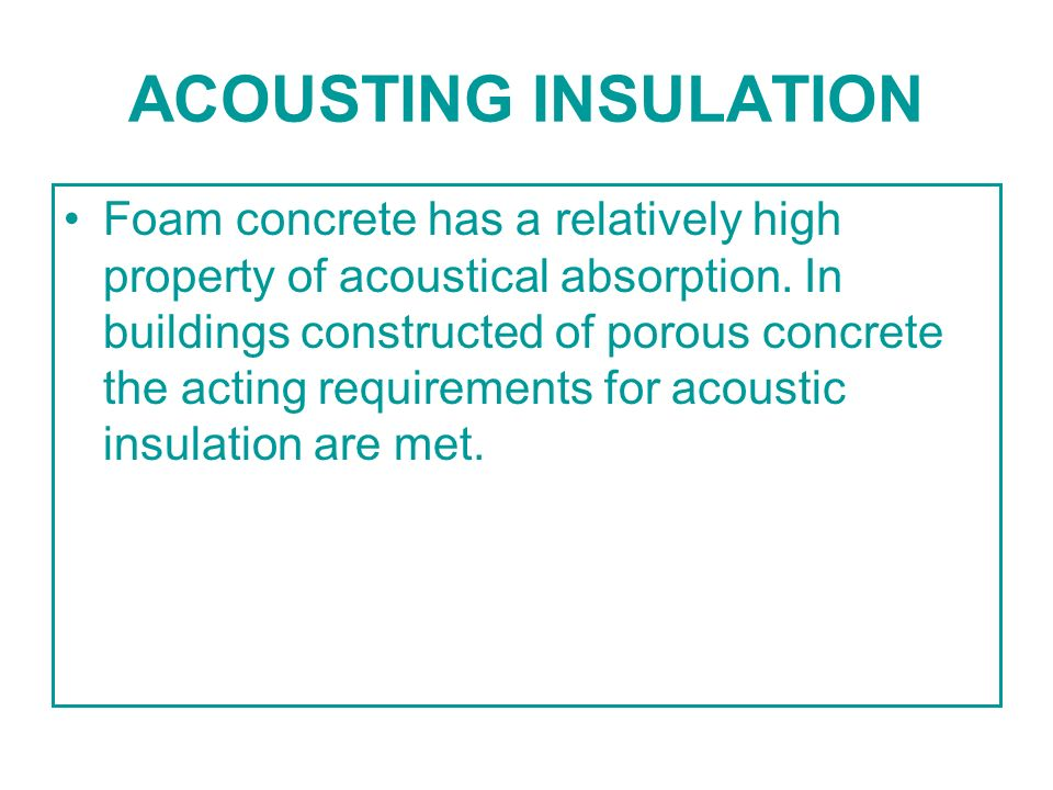 ACOUSTING INSULATION
