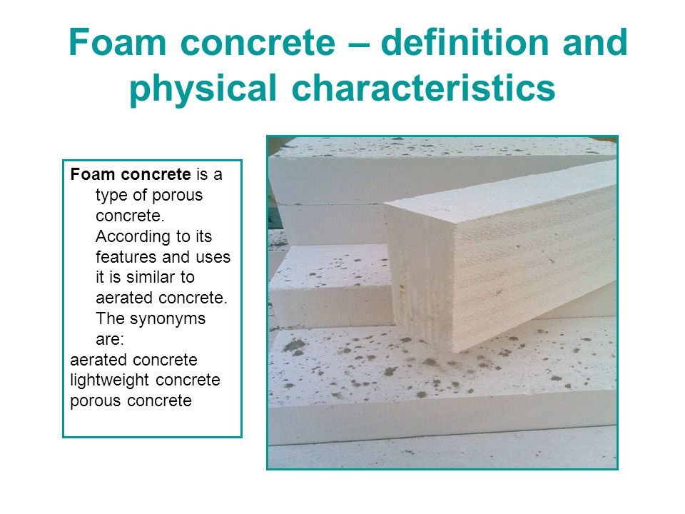 Foam concrete block in ukraine ppt video online download for Cement foam blocks