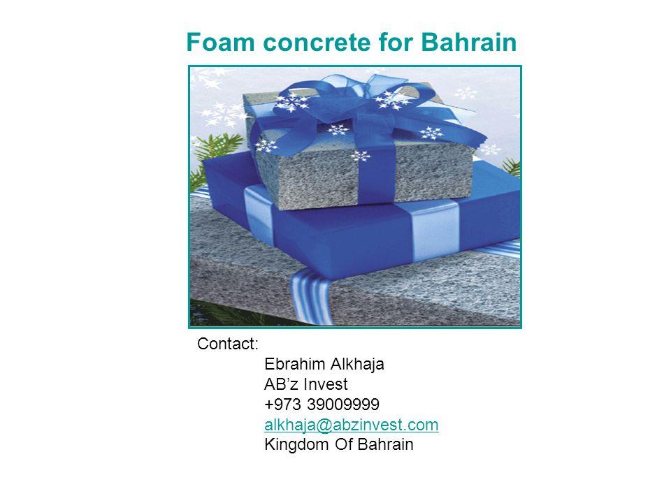 Foam concrete for Bahrain