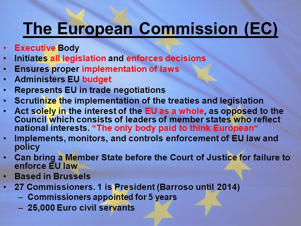 The European Commission (EC)