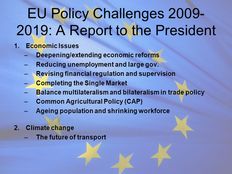EU Policy Challenges 2009-2019: A Report to the President
