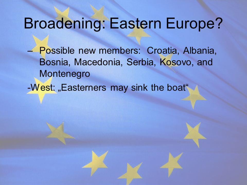Broadening: Eastern Europe