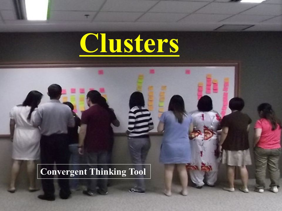 Clusters Convergent Thinking Tool