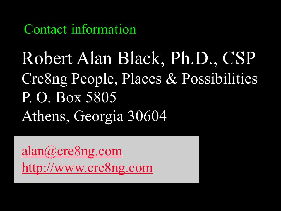 Robert Alan Black, Ph.D., CSP