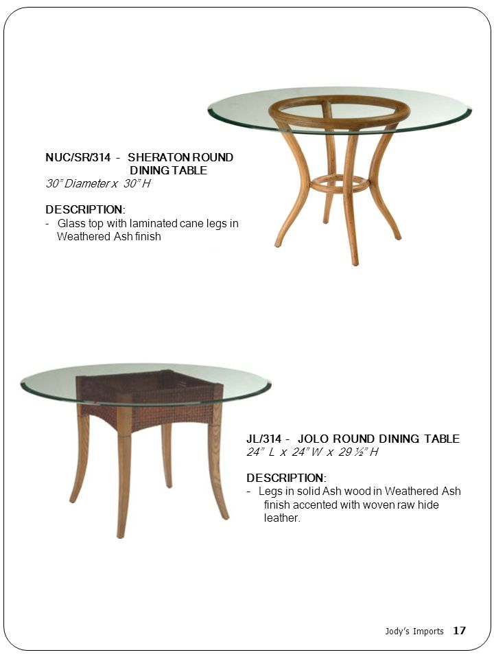 NUC/SR/314 - SHERATON ROUND DINING TABLE 30 Diameter x 30 H
