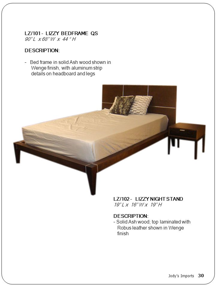 - Bed frame in solid Ash wood shown in