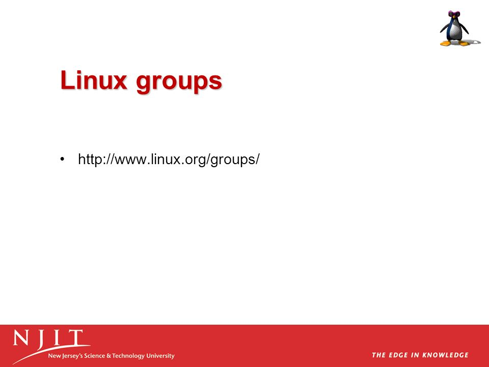 Linux groups