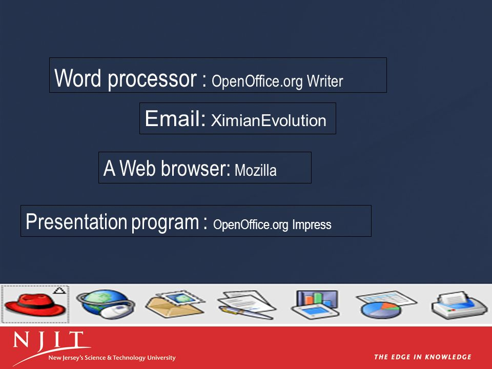 Word processor : OpenOffice.org Writer