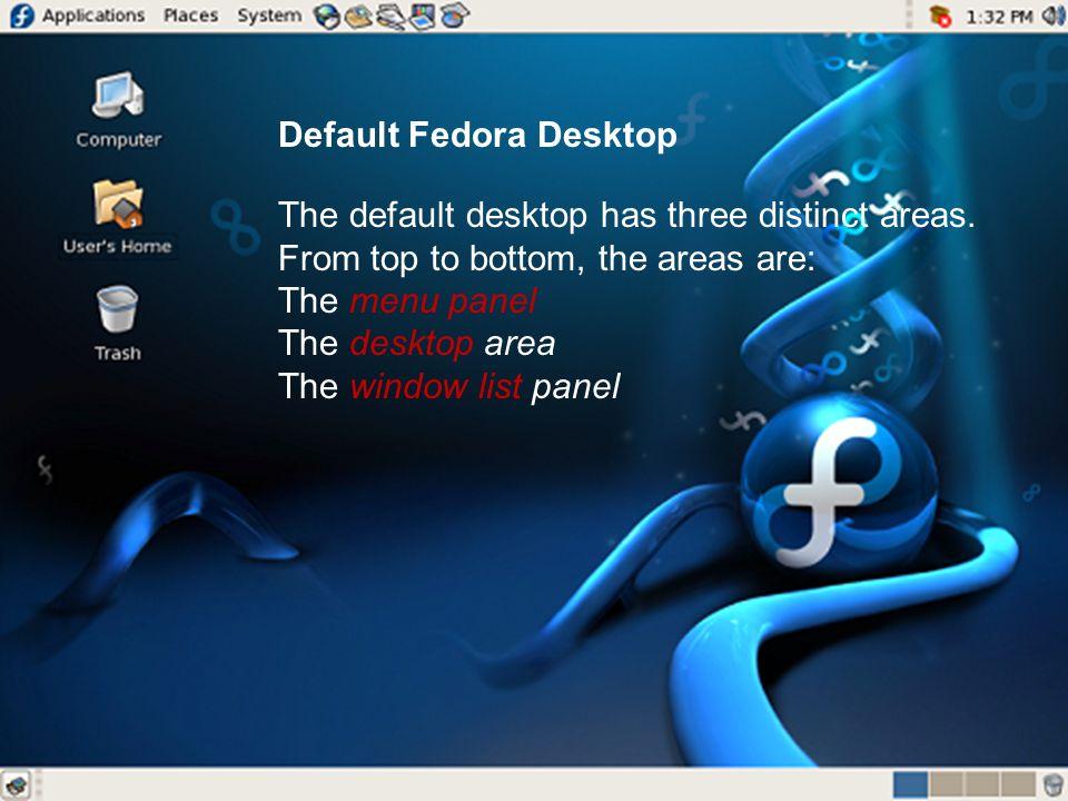 Default Fedora Desktop