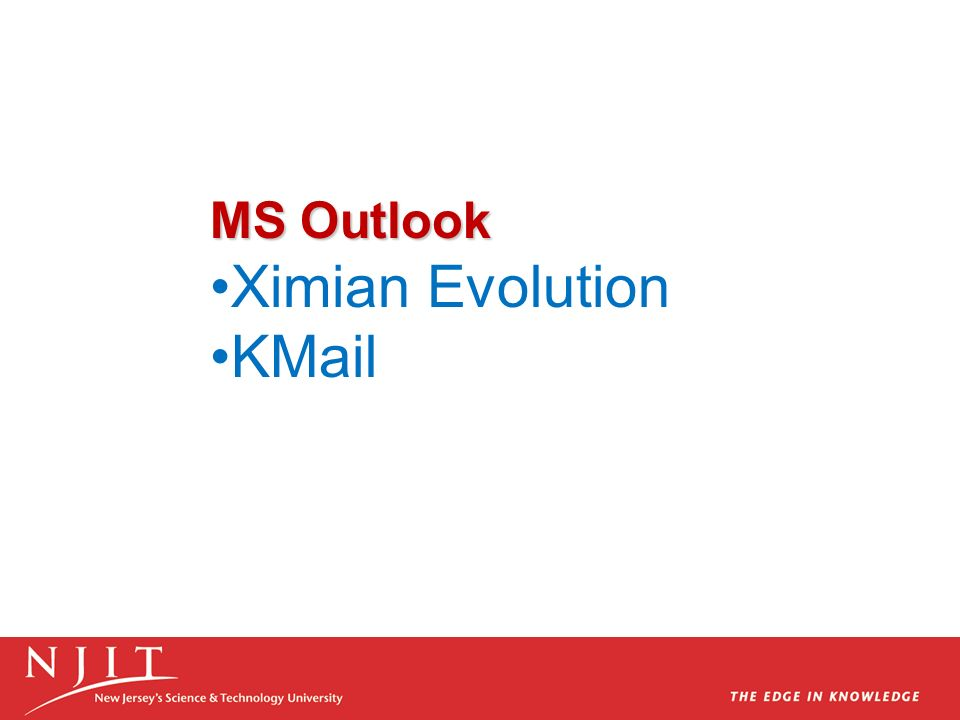 Ximian Evolution KMail MS Outlook