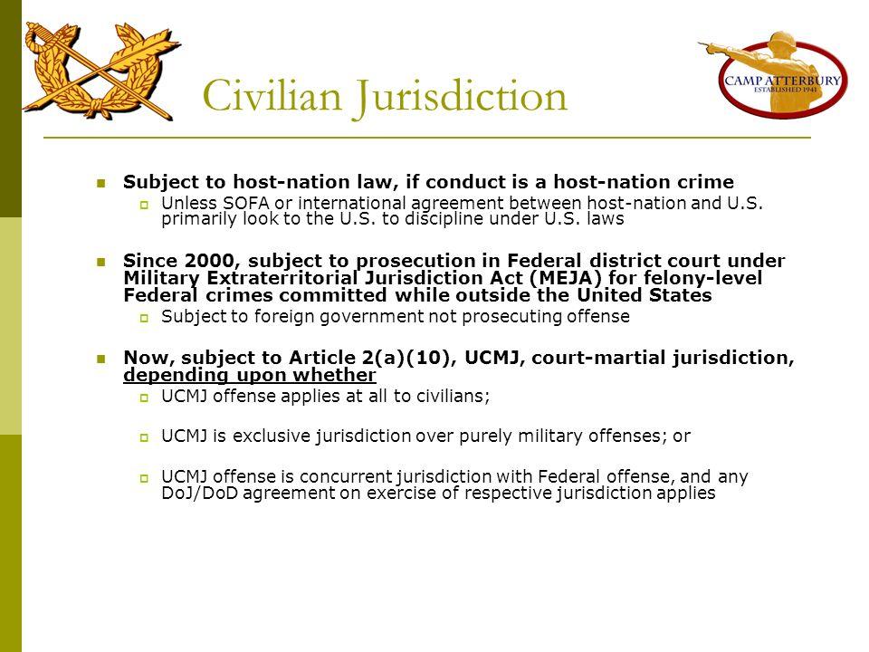Civilian Jurisdiction