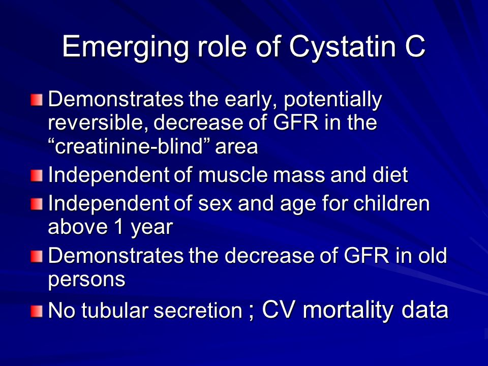 Emerging role of Cystatin C