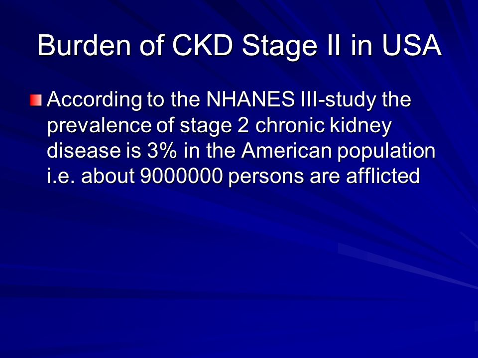 Burden of CKD Stage II in USA