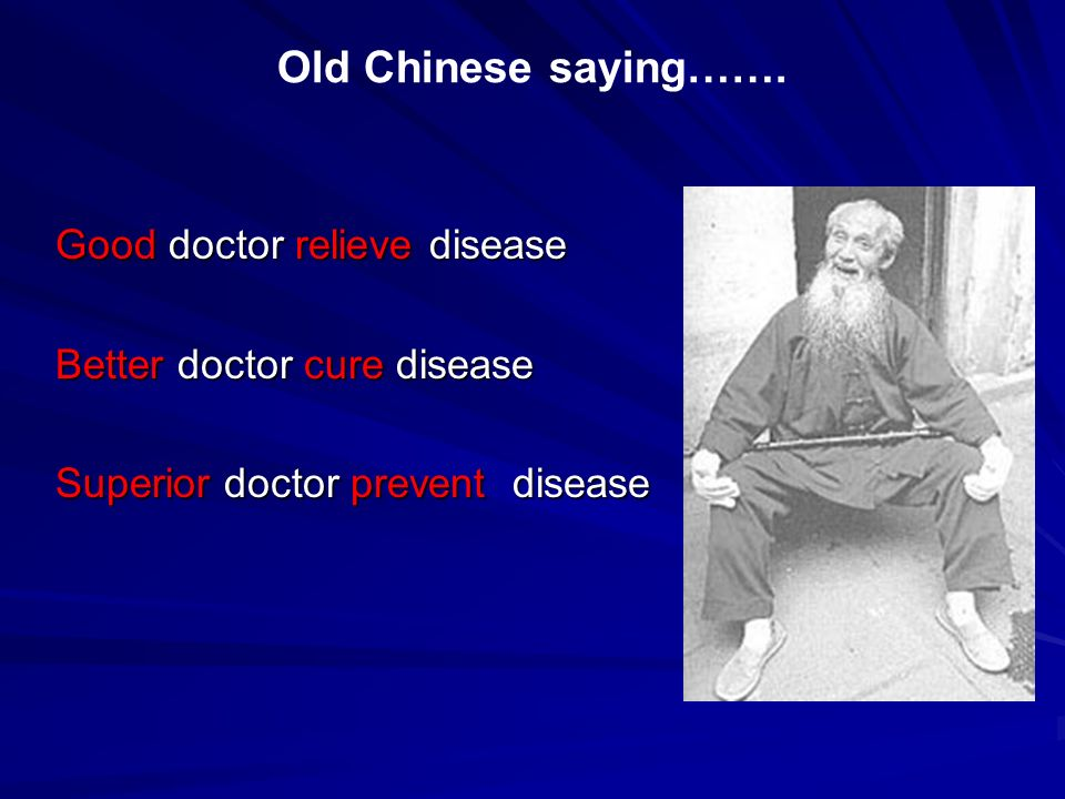 Old Chinese saying……. Good doctor relieve disease