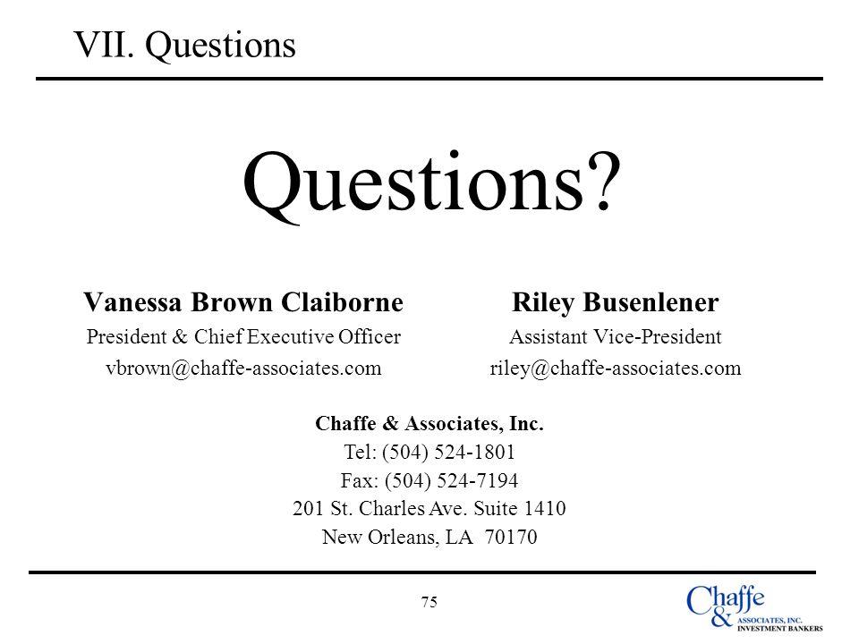 Chaffe & Associates, Inc.
