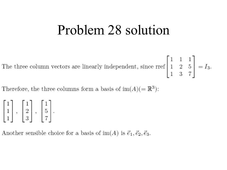 Problem 28 solution