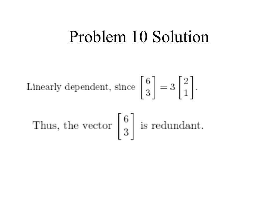 Problem 10 Solution
