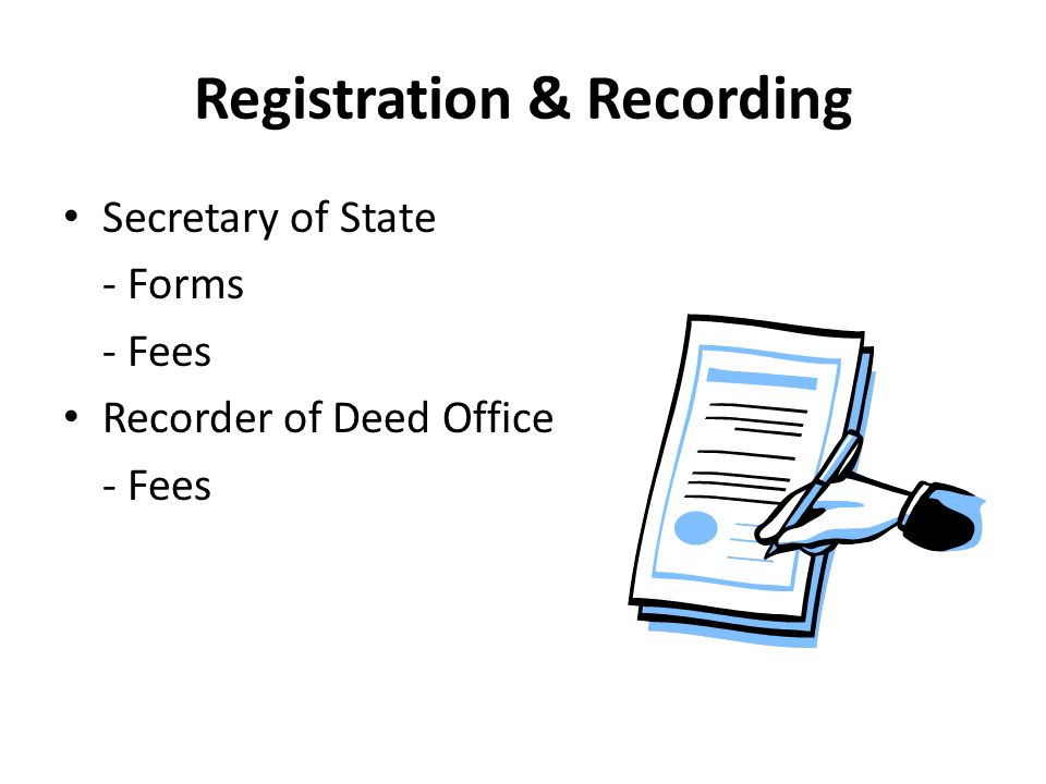 Registration & Recording