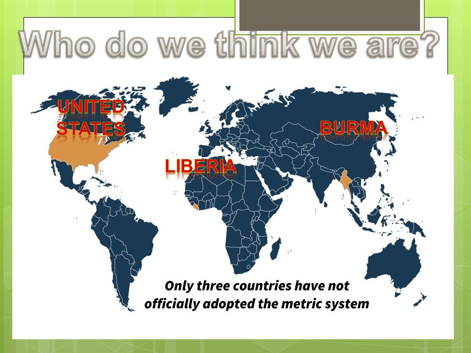 Who do we think we are United states Burma Liberia