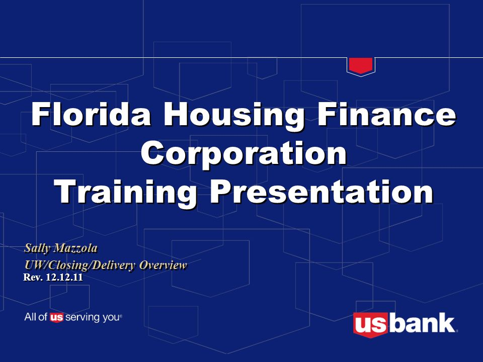 Florida Housing Finance Corporation Training Presentation