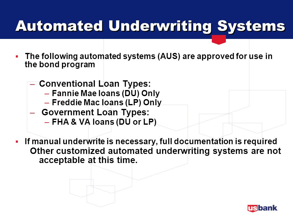 Automated Underwriting Systems