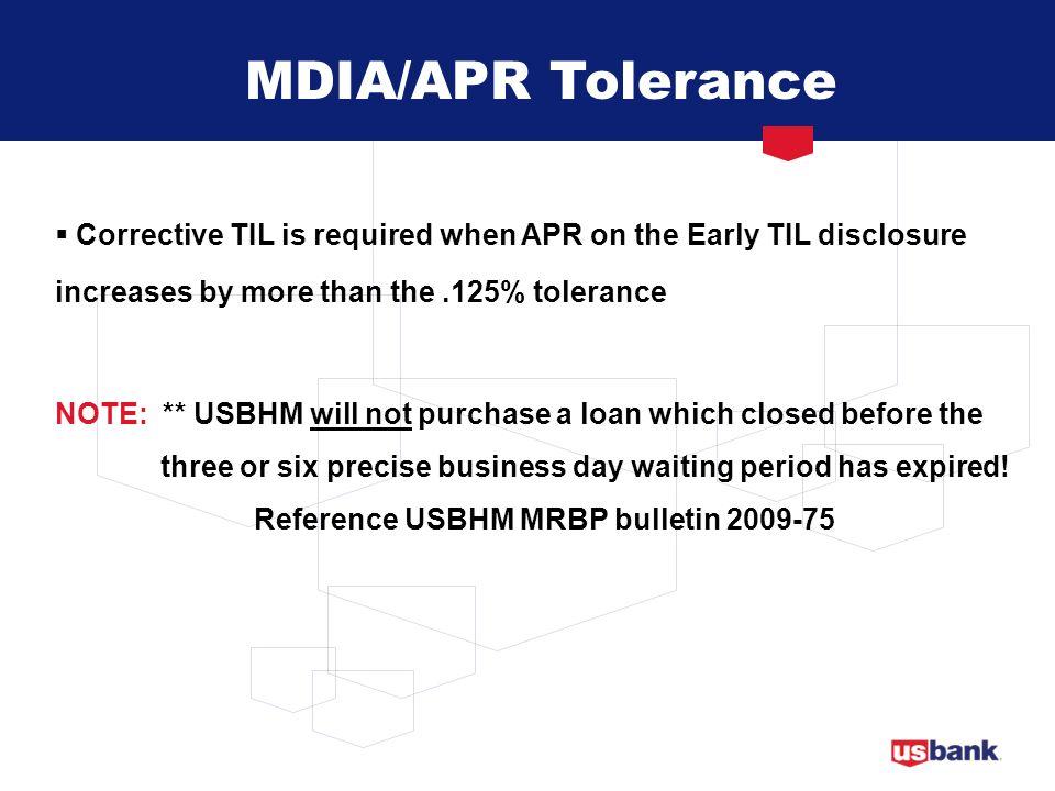 Reference USBHM MRBP bulletin 2009-75