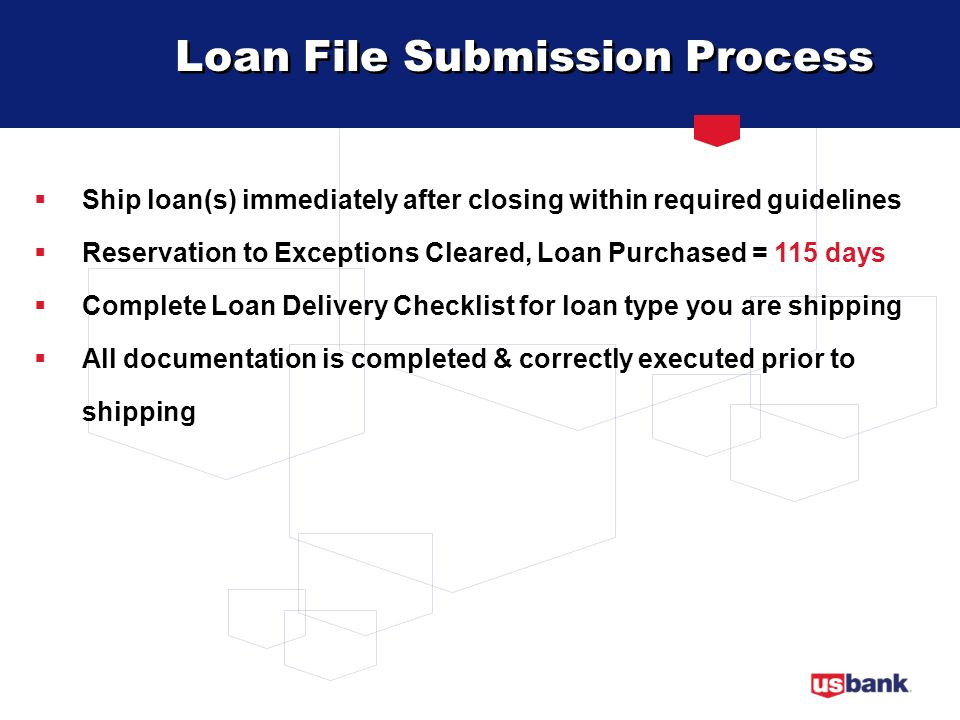 Loan File Submission Process