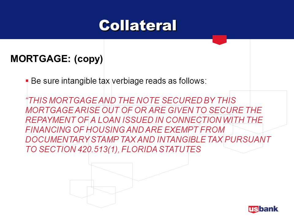 Collateral MORTGAGE: (copy)