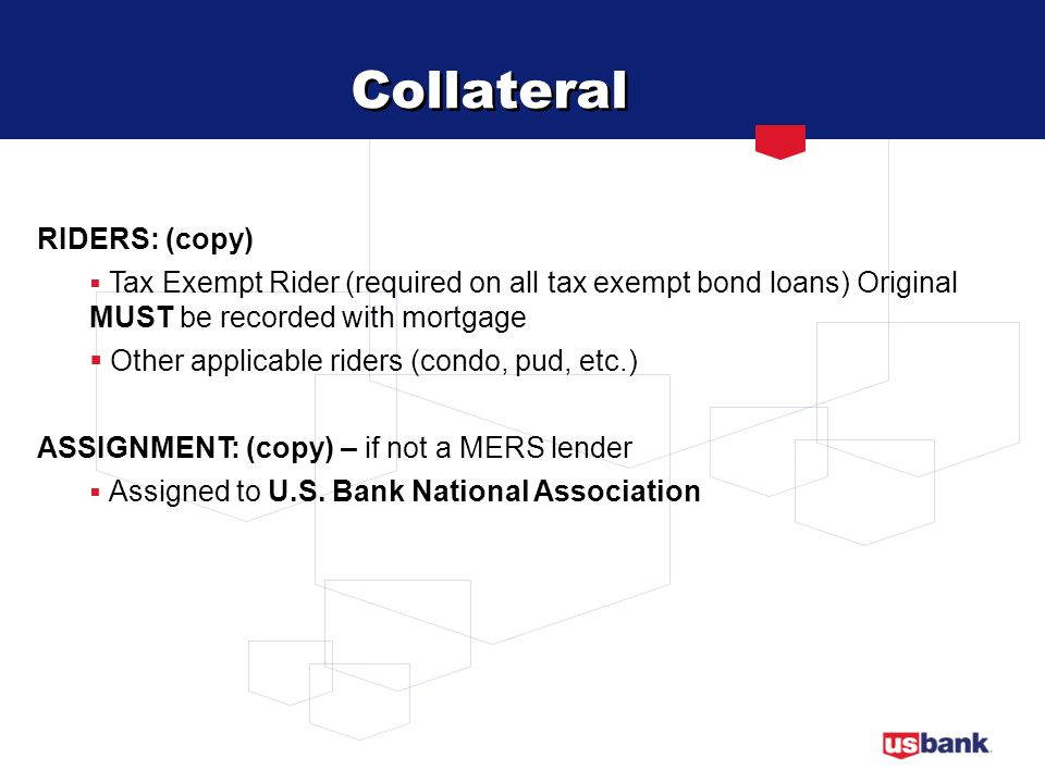 Collateral RIDERS: (copy) Other applicable riders (condo, pud, etc.)