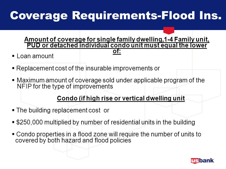 Coverage Requirements-Flood Ins.