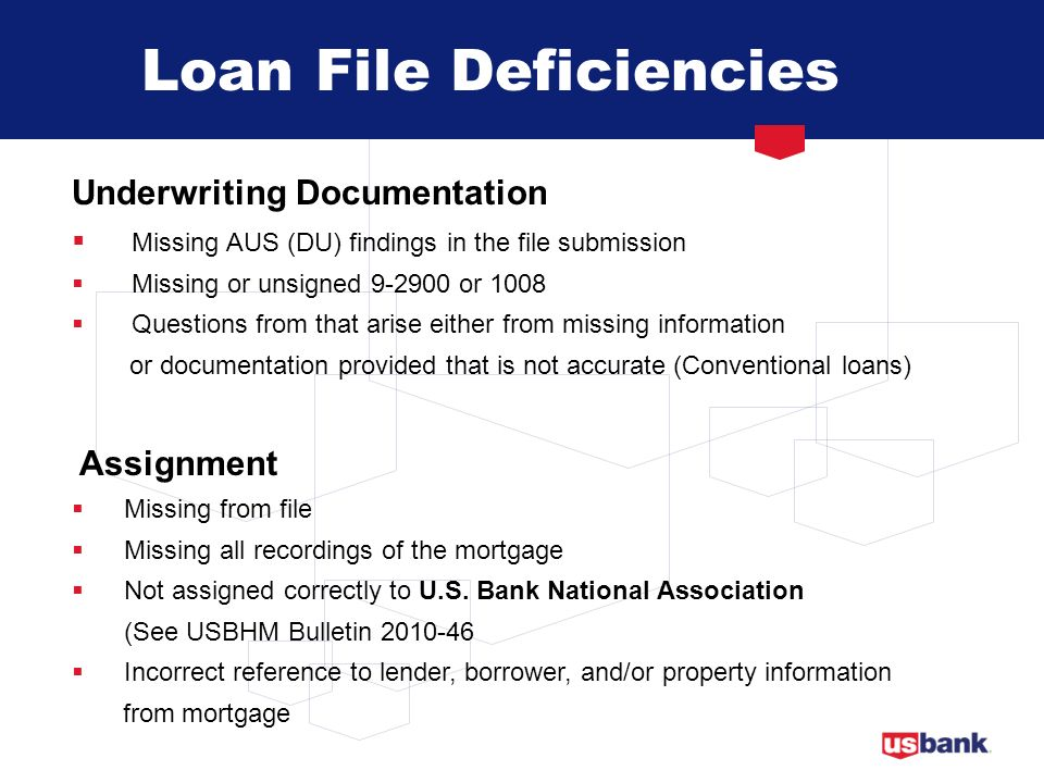 Loan File Deficiencies