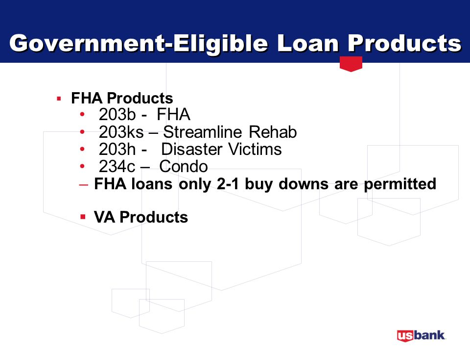 Government-Eligible Loan Products