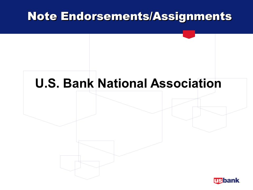 Note Endorsements/Assignments