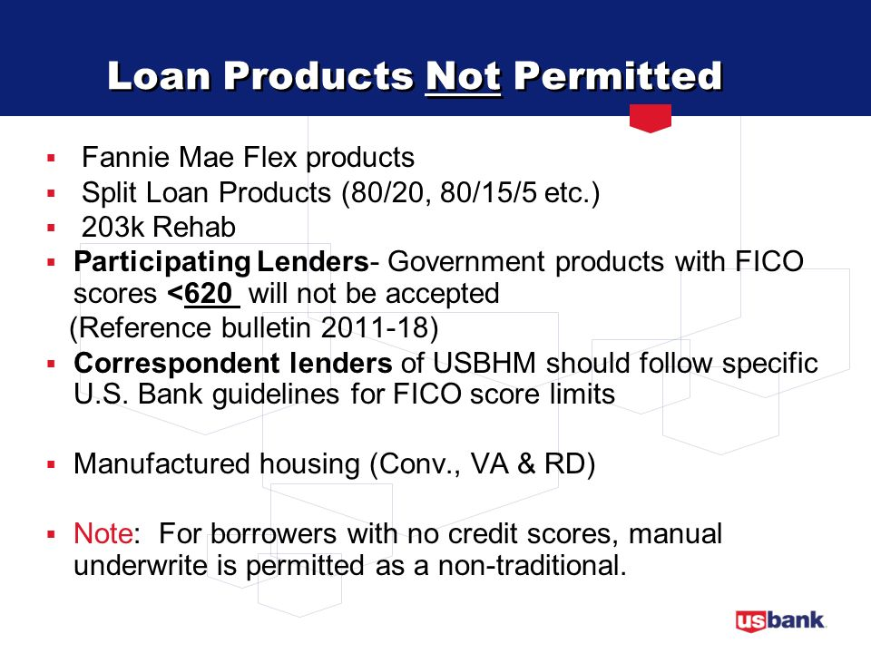Loan Products Not Permitted