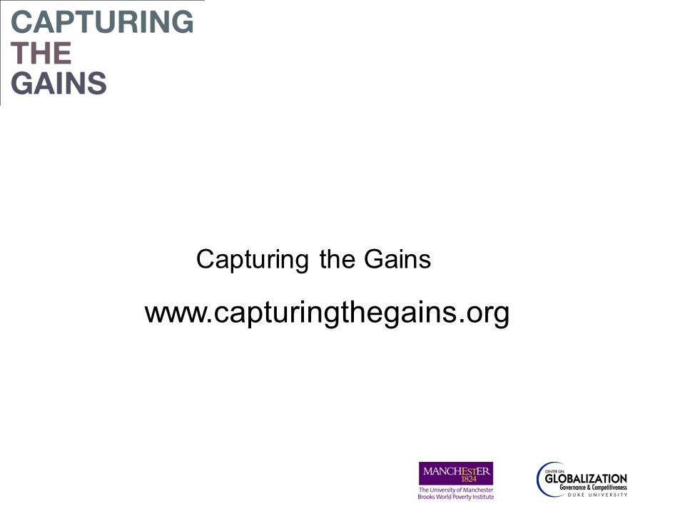 Capturing the Gains www.capturingthegains.org