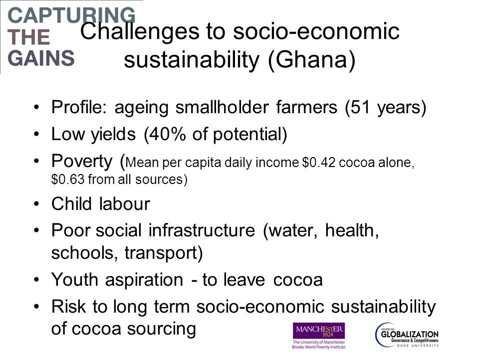 Challenges to socio-economic sustainability (Ghana)