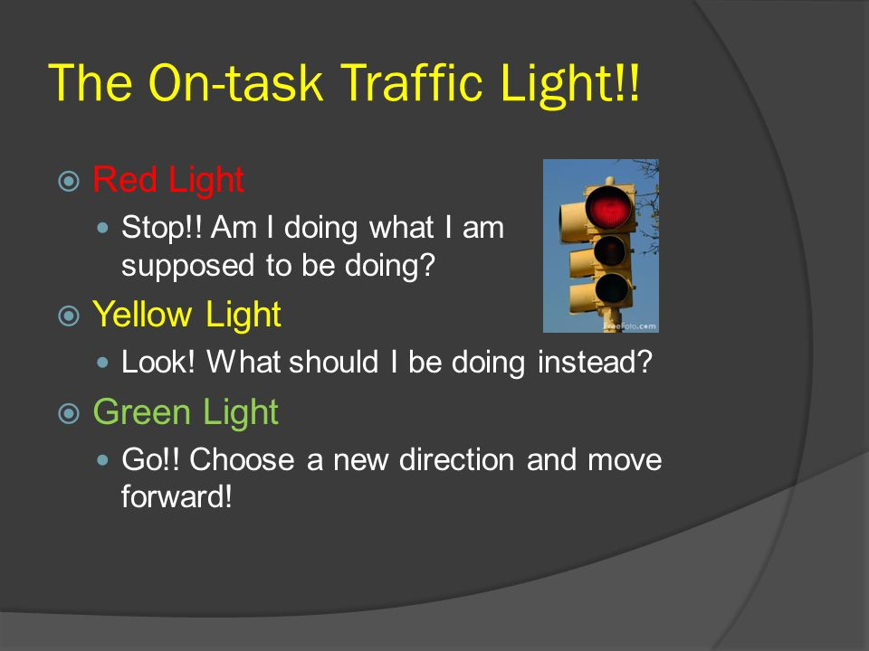 The On-task Traffic Light!!