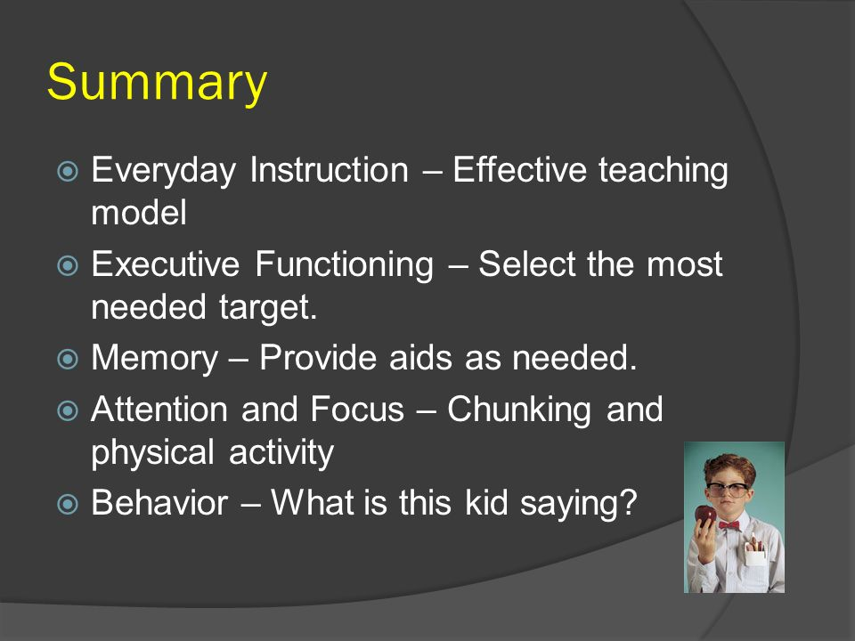 Summary Everyday Instruction – Effective teaching model