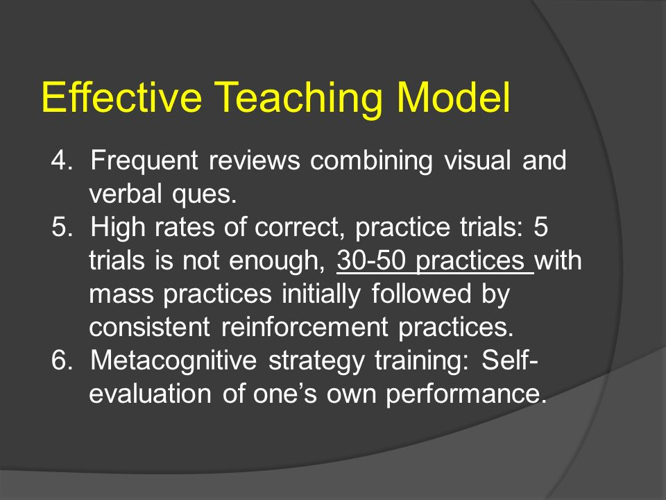 Effective Teaching Model