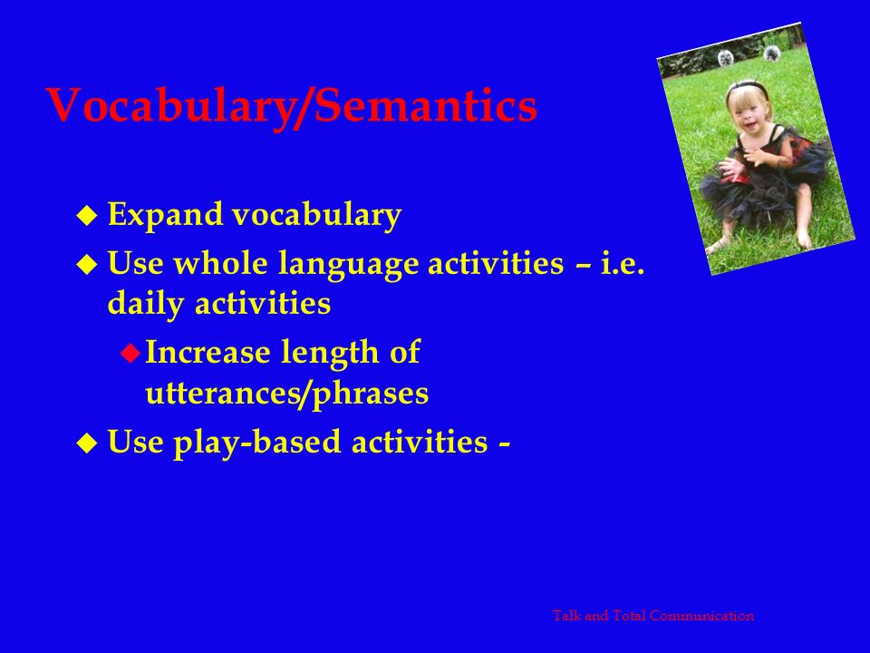 Vocabulary/Semantics