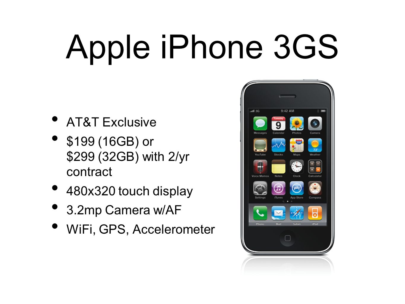 Apple iPhone 3GS AT&T Exclusive