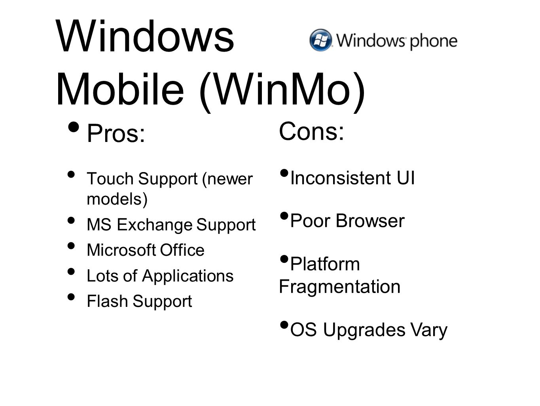 Windows Mobile (WinMo)