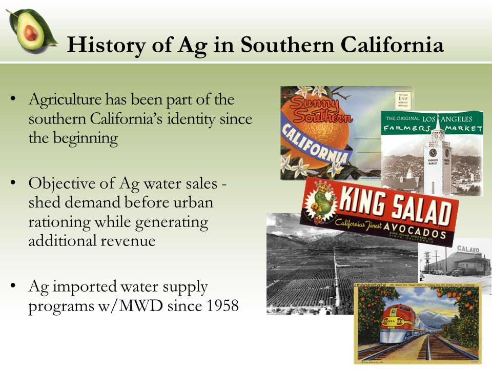 History of Ag in Southern California