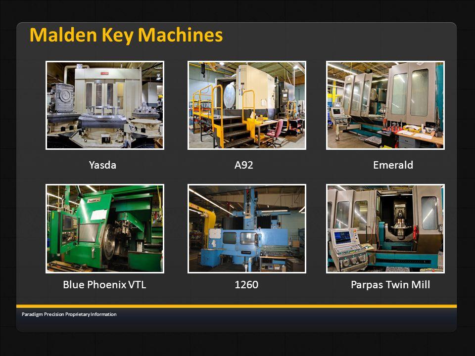 Malden Key Machines Yasda A92 Emerald Blue Phoenix VTL 1260