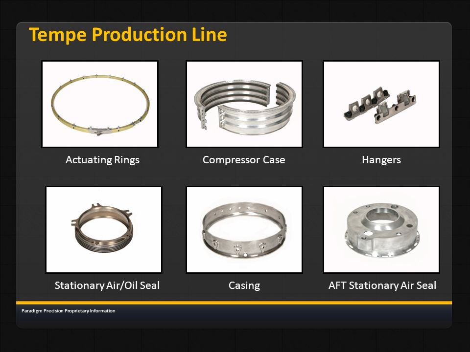 Tempe Production Line Actuating Rings Compressor Case Hangers