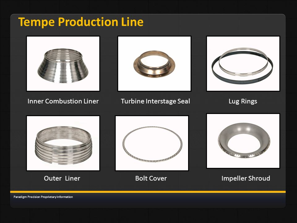 Tempe Production Line Inner Combustion Liner Turbine Interstage Seal