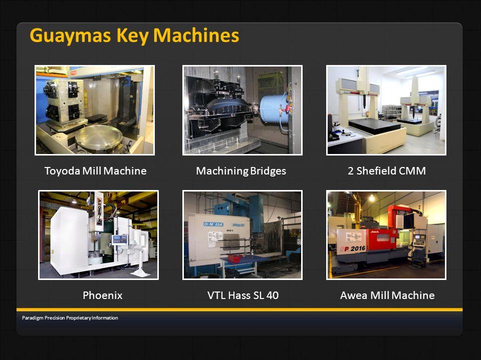 Guaymas Key Machines Toyoda Mill Machine Machining Bridges